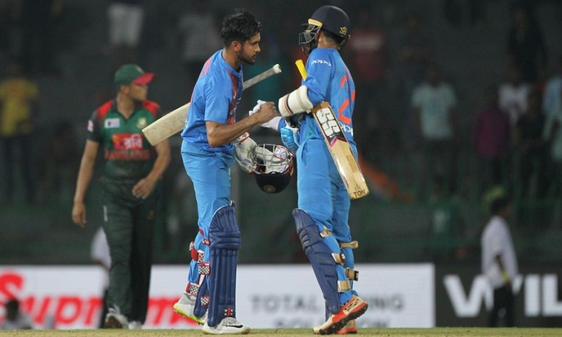 Nidahas Trophy: India beat Bangladesh by 6 wickets