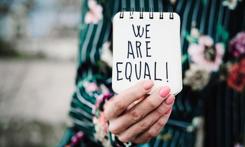 Give us equality and respect, we can breathe easy without flowers, chocolates!