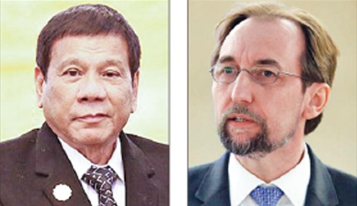 Filipino president needs 'psychiatric evaluation': UN rights chief