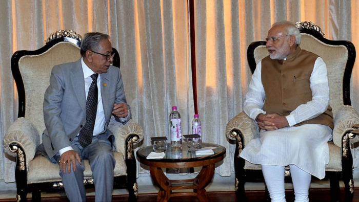 India trying to resolve Teesta issue, Modi assures Hamid