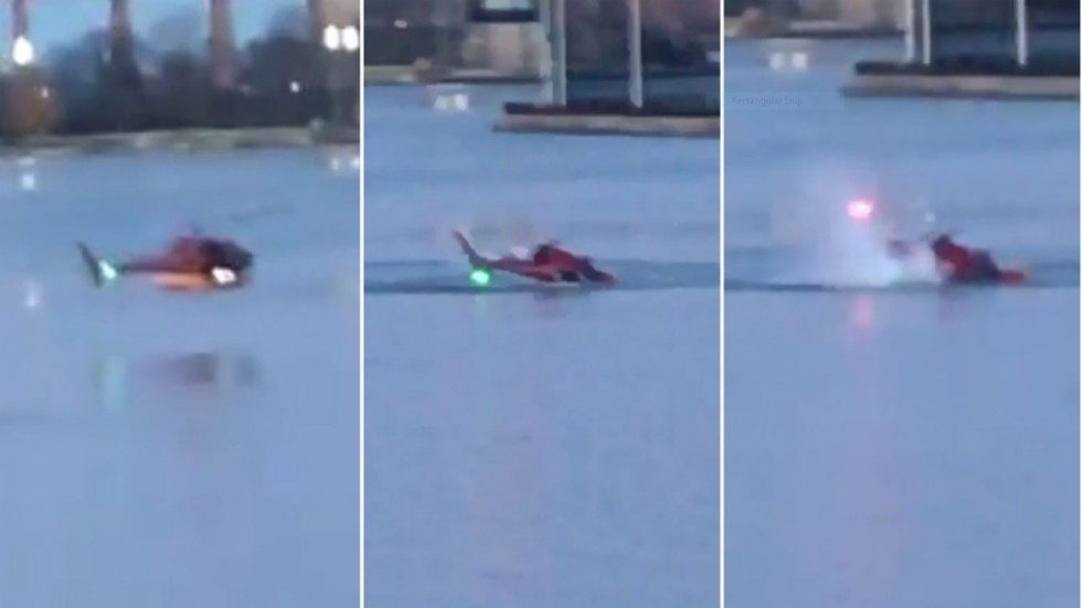 2 dead after helicopter crashes in New York City's East River (Video)