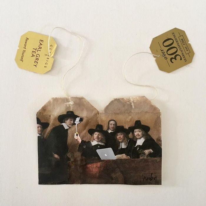 Artist paints intricate masterpieces on used teabags