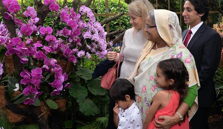 Prime Minister Sheikh Hasina returns home shortening her visit