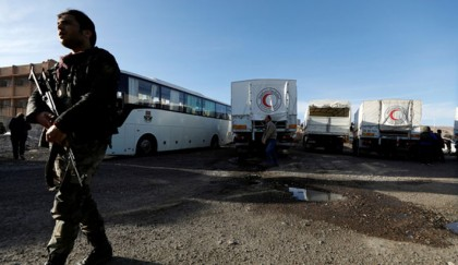 Syrian forces advance against Ghouta rebels