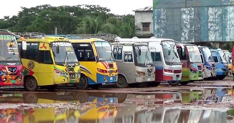 Indefinite bus strike begins in 4 Barisal districts