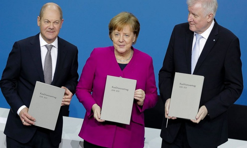German parliament meets to elect Merkel for 4th term