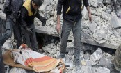 Activists: Syrian strikes target rebel enclave