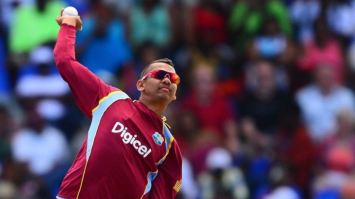 Windies spinner Narine's bowling action reported again