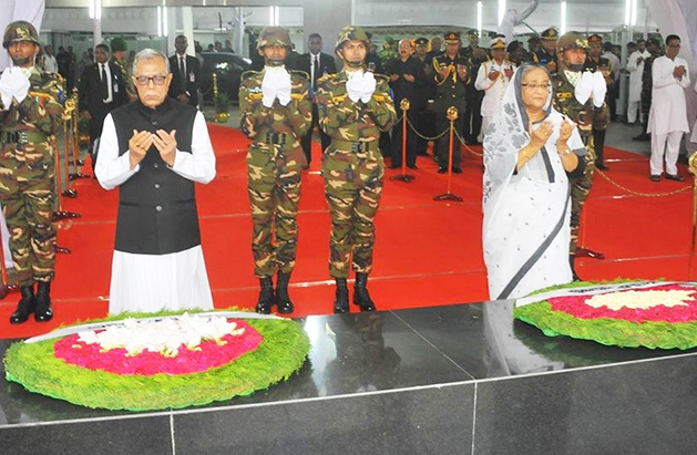President, Prime Minister pay homage to Bangabandhu at Tungipara
