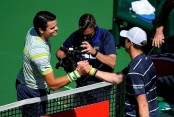 Del Potro, Raonic advance to semifinals at Indian Wells
