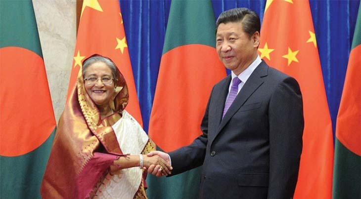 Hasina greets Chinese President on his reelection