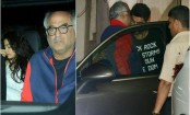 Boney Kapoor visits son Arjun with daughters Janhvi, Khushi