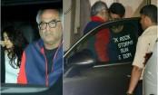 Boney Kapoor visits son Arjun with daughters Janhvi, Khushi