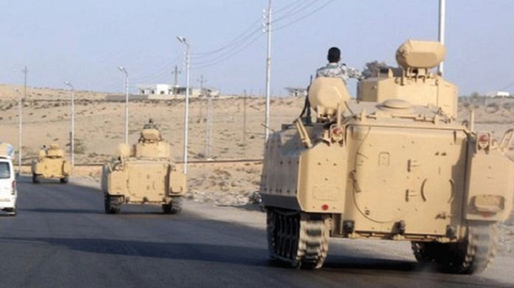 Egypt military says 36 jihadists, 4 soldiers killed in Sinai