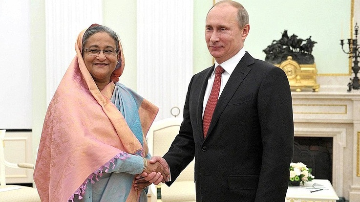 Prime Minister Hasina greets Putin for his re-election as Russian President