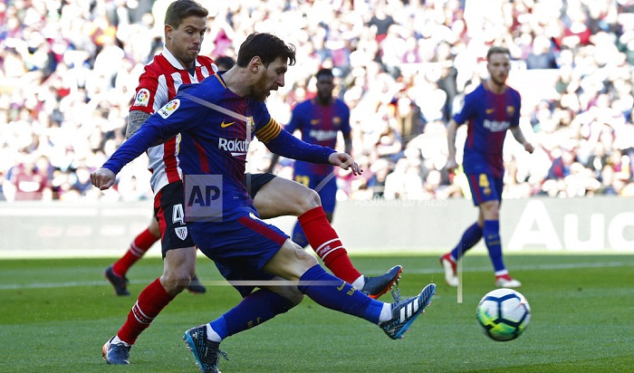 Messi leads Barcelona to 2-0 win over Athletic Bilbao