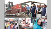 Bodies of 23 victims break down in tears at Bangladesh