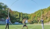 Guinness record for spinning largest hula hoop