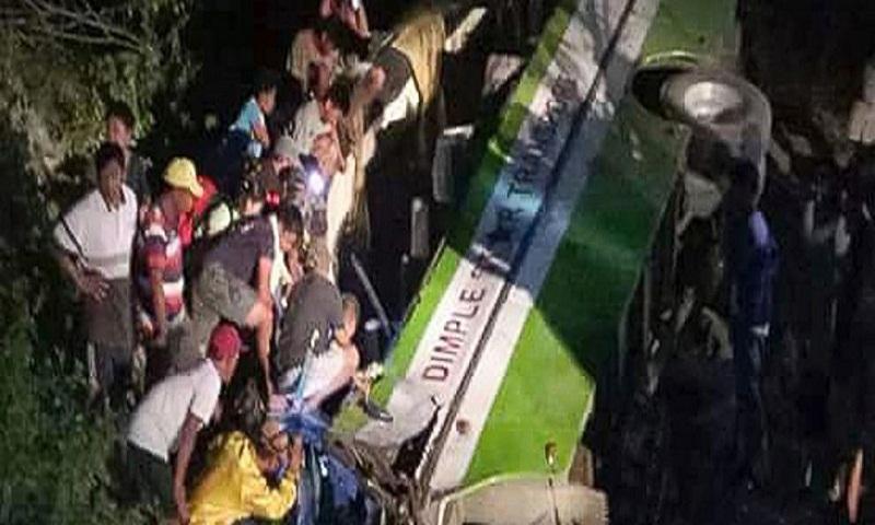 Philippine bus careens into ravine, killing 19, injuring 17