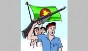 Bangladesh  flag hoisted  everywhere
