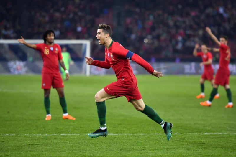 Ronaldo scores twice in added time, Portugal beats Egypt 2-1