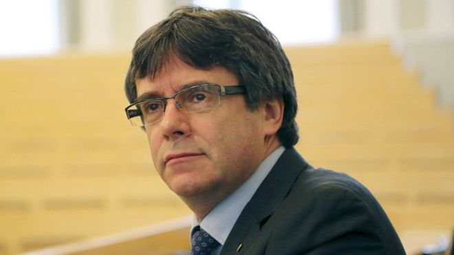 Carles Puigdemont, former Catalan president, detained in Germany