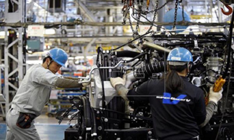 Japan factory output turns up in February