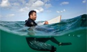 Searching for the sublime: The man who paints in the ocean