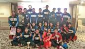 U-15 footballers jubilant winning four-nation title