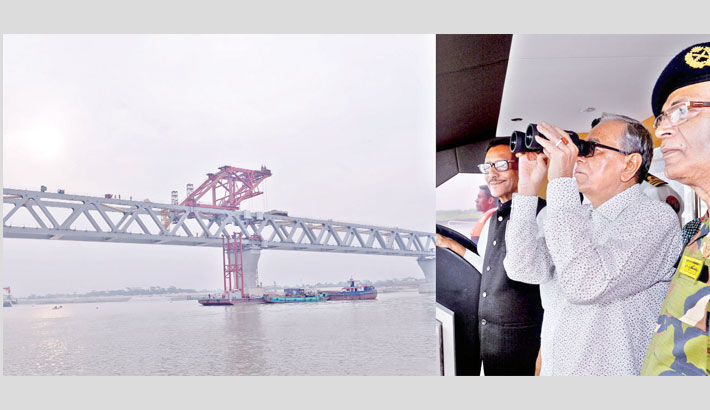 President apprised  of Padma bridge  progress