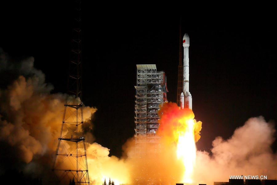 Twin navigation satellites launched in China