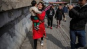 Wife marches for 'vanished' husband in China