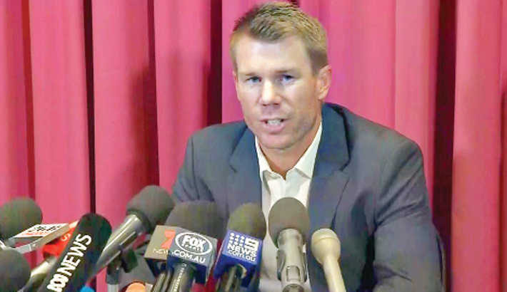 Warner accepts  12-month ball tampering ban