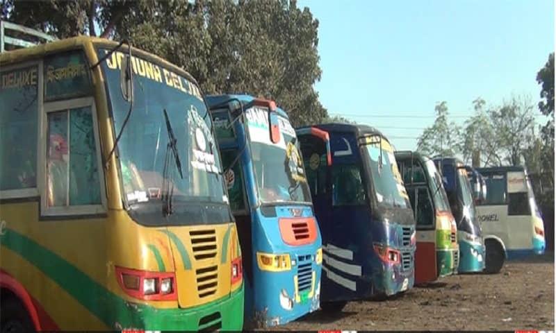 Indefinite bus strike in Gopalganj