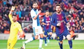 Messi nets hat-trick as Barca equal Liga record