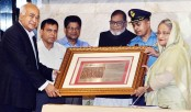 PM receives Indian Eastern Command memento on Pak surrender in 1971