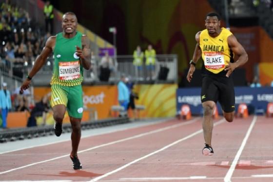 Simbine stuns Blake in 100m of Commonwealth Games