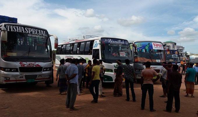 Bus strike in Gopalganj enters 2nd day