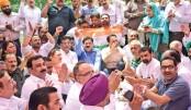 BJP, Congress in war of words on 'fast' vs 'farce'