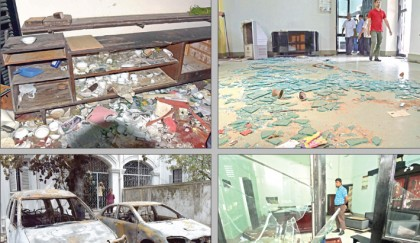 Protesters vandalise DU VC house, torch cars