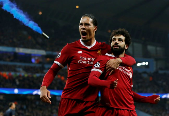 Guardiola sent off as Salah sends Liverpool into Champions League semi