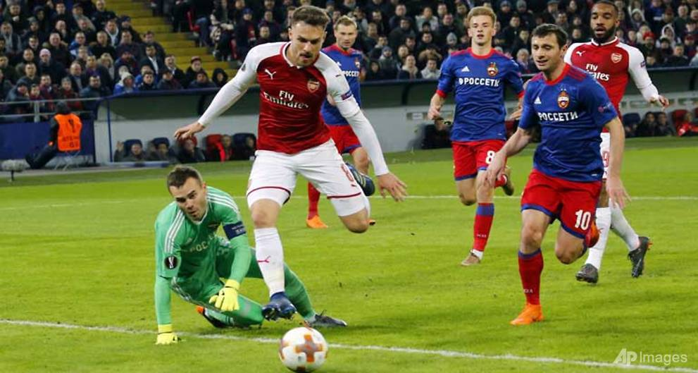 Arsenal survive Moscow scare to reach Europa League semis