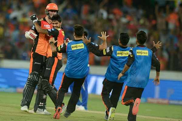 Sunrisers overcome Markande scare in last-ball thriller