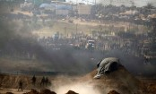 Fierce clashes continue at Gaza-Israel border fence