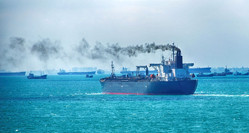 World shipping industry agrees to halve carbon emissions by 2050