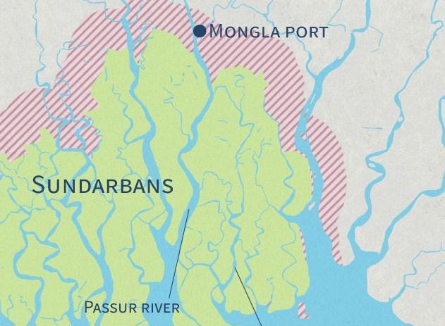 Coal-laden cargo sinks near Sundarbans