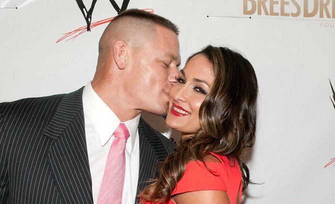 Engaged wrestlers John Cena and Nikki Bella break up