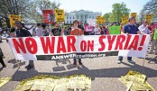 Hundreds protest in US against military operation in Syria