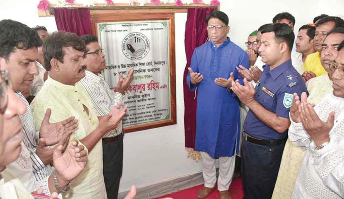 Inaugurating the newly constructed