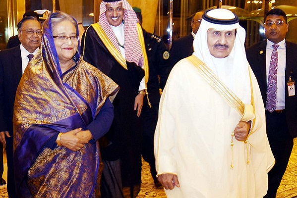 PM Sheikh Hasina leaves Dammam for UK
